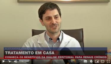 Dr. Alexandre Cabral, membro do Comitê de Diálise Peritoneal da SBN, sobre o tratamento dialítico em casa