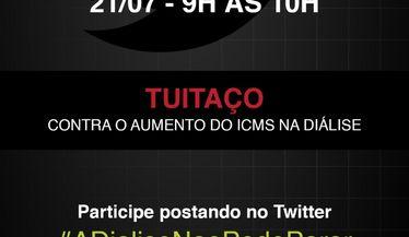 NOVO TUITAÇO - A promessa de isenção total para a diálise ficou apenas no Twitter do Governador João Doria