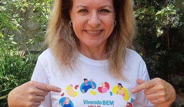 Olga Bongiovanni apoia a campanha do Dia Mundial do Rim
