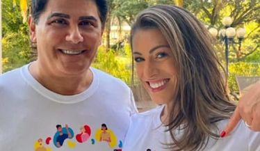 O casal César Filho e Elaine Mickely apoiam a campanha do Dia Mundial do Rim