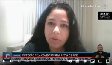 SBN participa de matéria do Jornal da Cultura falando sobre as sequelas que a Covid-19 pode deixar nos rins