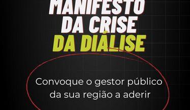 Manifesto da crise de diálise