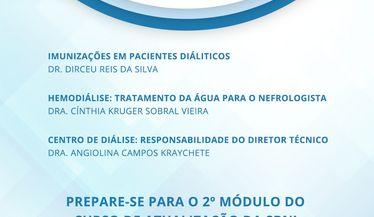 Confira o programa Módulo 2 - DRC e Diálise - do Curso de Atualização em Nefrologia: Início em 05 de Agosto!