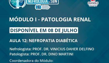 Aula 12 do 1º Módulo do Curso de Atualização da SBN sobre Patologia Renal estará disponível em 8 de julho
