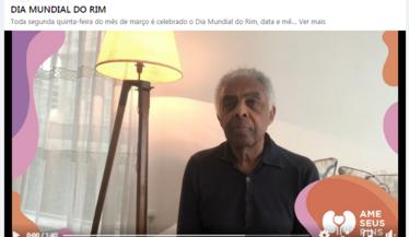 Gilberto Gil apoia a campanha do Dia Mundial do Rim